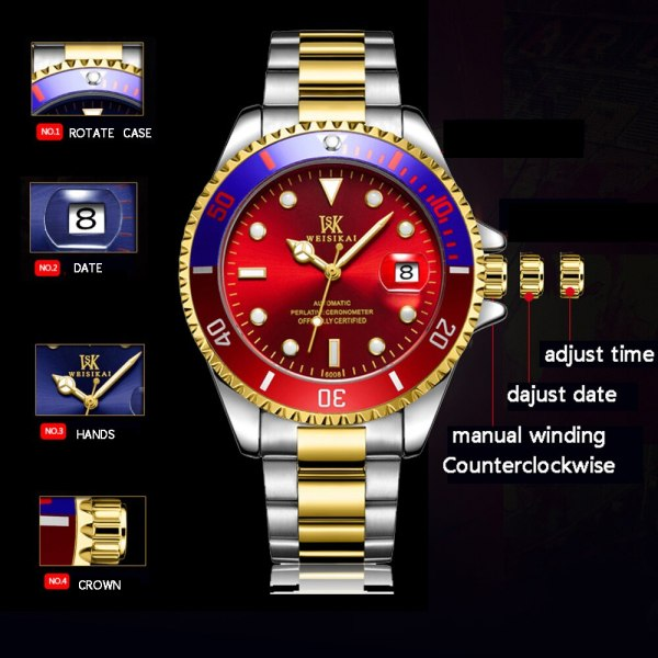 WEISIKAI Diver Watch Automatic Mechanical Watches Sports Top Brand Luxury Men s Diving Watches Male Wristwatch 1 WEISIKAI Diver Watch Automatic Mechanical Watches Sports Top Brand Luxury Men's Diving Watches Male Wristwatch Relogio Masculino