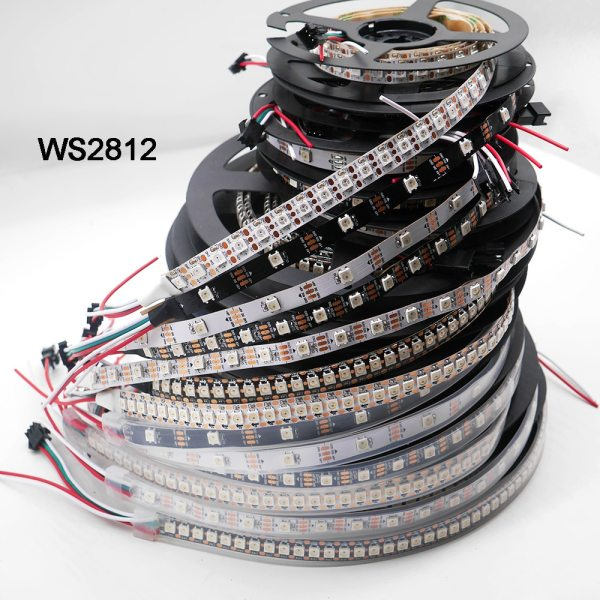 WS2812B 1m 3m 5m 30 60 74 96 100 144 pixels leds m Smart led WS2812B 1m/3m/5m 30/60/74/96/100/144 pixels/leds/m Smart led pixel strip,WS2812 IC;WS2812B/M,IP30/IP65/IP67,Black/White PCB,DC5V