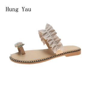 Women Sandals Flip Flops Slippers Flats Shoes String Bead Summer Fashion Wedges Woman Slides Pineapple Lady Innrech Market.com