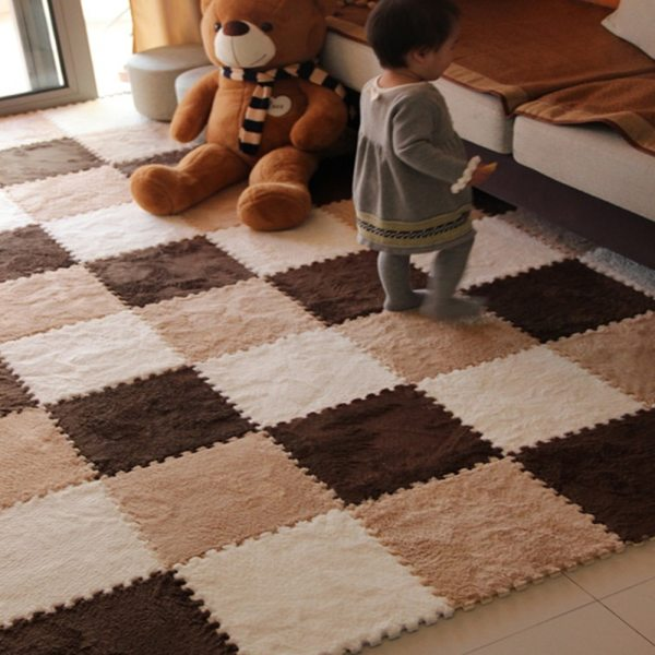 10Pcs Lot Children s Rug Soft Plush Baby Play Mat Toys Eva Foam Kids Rug Puzzle 2 10Pcs/Lot Children's Rug Soft Plush Baby Play Mat Toys Eva Foam Kids Rug Puzzle Children's Mat Interlock Floor Playmat 30*30 CM
