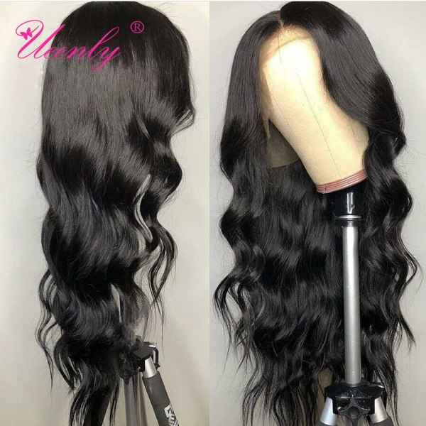 4x4 Closure Wig Brazilian Body Wave Lace Closure Human Hair Wigs Pre Plucked With Baby Hair 4 4x4 Closure Wig Brazilian Body Wave Lace Closure Human Hair Wigs Pre Plucked With Baby Hair UEENLY Remy Hair Closure Wigs