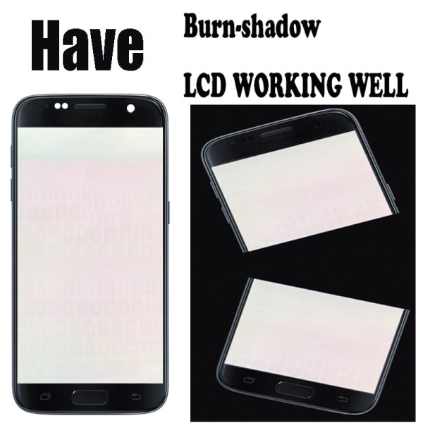 5 1 Burn Shadow LCD With Frame For SAMSUNG Galaxy S7 Display G930 G930F Touch Screen 1 5.1'' Burn-Shadow LCD With Frame For SAMSUNG Galaxy S7 Display G930 G930F Touch Screen Digitizer Replacement With Service Pack