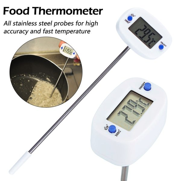 BBQ Meat Thermometer Rotatable Digital Food Thermometer Chocolate Oven Milk Water Oil Kitchen Cooking Electronic Probe BBQ Meat Thermometer Rotatable Digital Food Thermometer Chocolate Oven Milk Water Oil Kitchen Cooking Electronic Probe