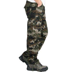 Camouflage Pants Men Casual Camo Cargo Trousers Hip Hop Joggers Streetwear Pantalon Homme Multi pocket Military Innrech Market.com