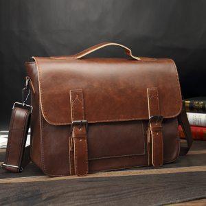 Crazy Horse Artificial Leather Business Handbag Laptop Briefcases for Men Leather Casual Men Bag Messenger Shoulder Innrech Market.com