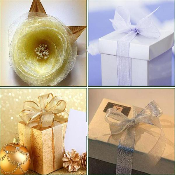 Gold silver ribbon 25 yards 22M metal shiny For wedding party Christmas decoration DIY craft cake 2 Gold silver ribbon 25 yards 22M metal shiny For wedding party Christmas decoration DIY craft cake gift bow packaging ribbon