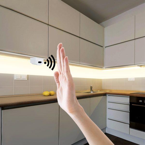 Hand Sweep Sensor LED Strips 12V Waterproof 1M 2M 3M 4M 5M Motion Sensor Night lights Hand Sweep Sensor LED Strips 12V Waterproof 1M 2M 3M 4M 5M Motion Sensor Night lights DIY Cupboard Wardrobe Closet Kitchen lamp