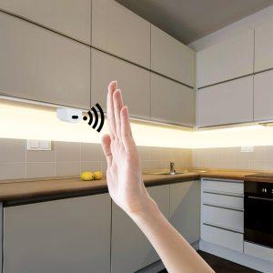 Hand Sweep Sensor LED Strips 12V Waterproof 1M 2M 3M 4M 5M Motion Sensor Night lights Innrech Market.com