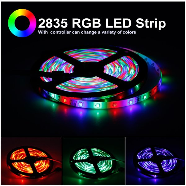 LED Strip 5050 2835 DC12V Flexible LED Light Tape 60LEDs M White Warm White Blue Green 4 LED Strip 5050 2835 DC12V Flexible LED Light Tape 60LEDs/M White / Warm White / Blue / Green / Red Waterproof RGB LED Strip 5M