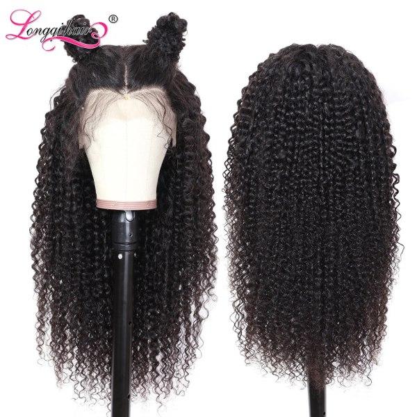 Longqi Hair 13X4 13x6 Lace Front Human Hair Wigs Remy Brazilian Curly Human Hair Wigs Frontal 5 Longqi Hair 13X4 13x6 Lace Front Human Hair Wigs Remy Brazilian Curly Human Hair Wigs Frontal Wig for Women 10 - 24 Inch
