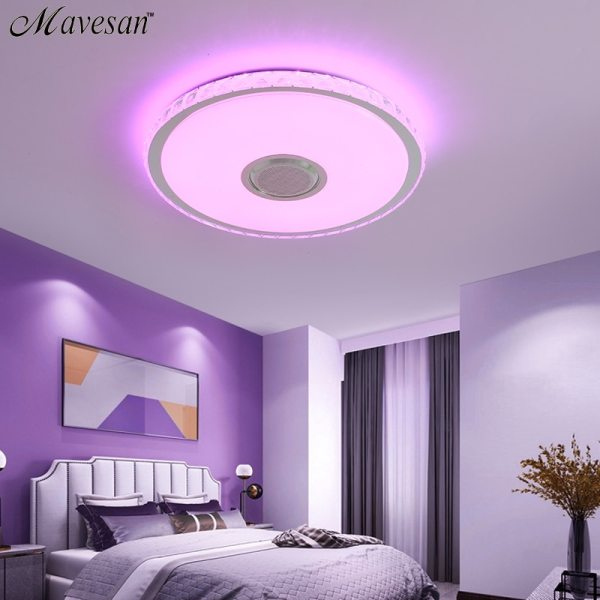 Music LED ceiling Lights RGB APP and Remote control ceiling lamp bedroom 25W 36W 52W living 3 Music LED ceiling Lights RGB APP and Remote control ceiling lamp bedroom 25W 36W 52W living room light lampara de techo
