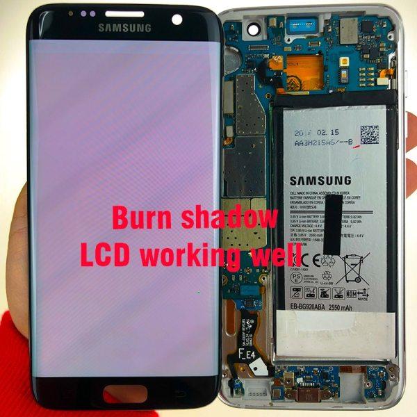 ORIGINAL 5 5 Display with the Burn Shadow LCD with Frame for SAMSUNG Galaxy S7 edge 3 ORIGINAL 5.5'' Display with the Burn-Shadow LCD with Frame for SAMSUNG Galaxy S7 edge G935 G935F Touch Screen Digitizer Assembly