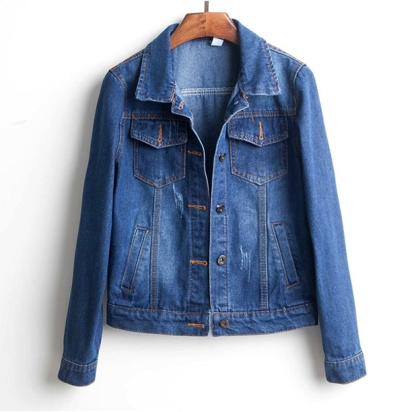 Plus Size Ripped Hole Cropped Jean Jacket 4Xl 5Xl Light Blue Bomber Short Denim Jackets Jaqueta Plus Size Ripped Hole Cropped Jean Jacket 4Xl 5Xl Light Blue Bomber Short Denim Jackets Jaqueta Long Sleeve Casual Jeans Coat