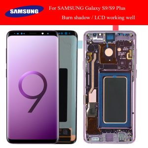 SUPER AMOLED has the Burn Shadow LCD with Frame for SAMSUNG Galaxy S9 G960 S9 Plus Innrech Market.com