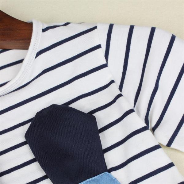 TANGUOANT Striped Patchwork Character Girl Dresses Long Sleeve Cute Mouse Children Clothing Kids Girls Dress Denim 2 TANGUOANT Striped Patchwork Character Girl Dresses Long Sleeve Cute Mouse Children Clothing Kids Girls Dress Denim Kids Clothes