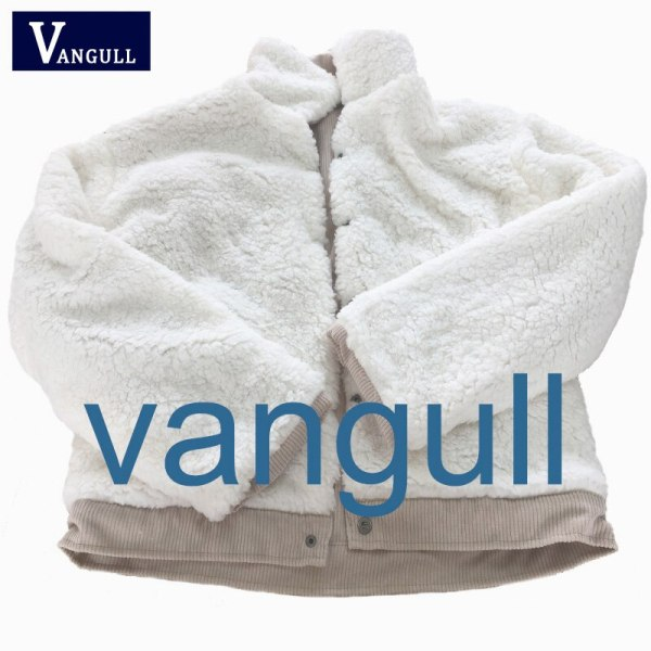 VANGULL Women Winter Jacket Thick Fur Lined Coats Parkas Fashion Faux Fur Lining Corduroy Bomber Jackets 3 VANGULL Women Winter Jacket Thick Fur Lined Coats Parkas Fashion Faux Fur Lining Corduroy Bomber Jackets Cute Outwear 2019 New