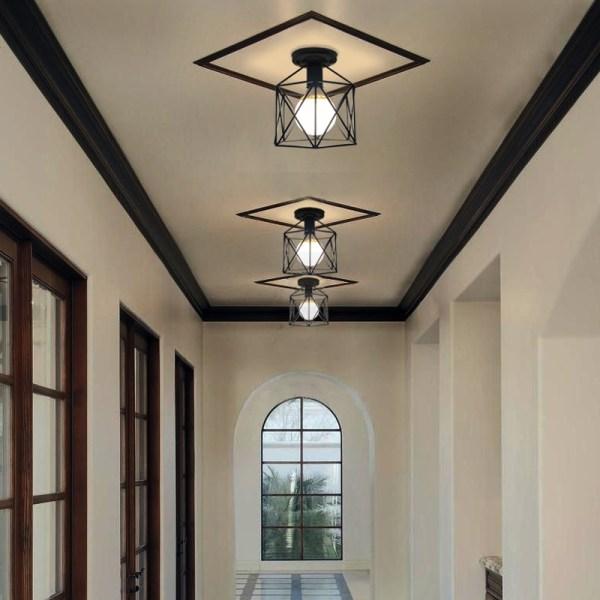 Vintage Ceiling Lamp For Living Room Bedroom Nordic Wrought Iron Retro Corridor Aisle For Living Room 2 Vintage Ceiling Lamp For Living Room Bedroom Nordic Wrought Iron Retro Corridor Aisle For Living Room Bar Ceiling Light