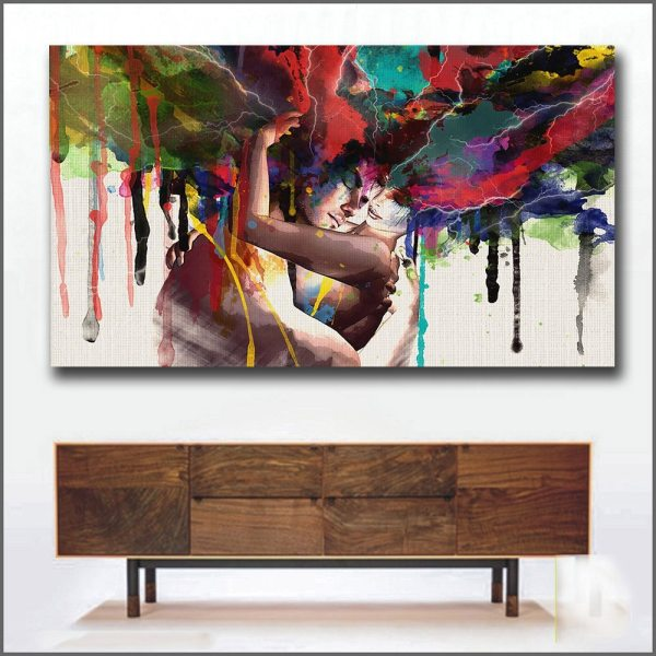 Wlong Love Kiss Oil Painting Canvas Art Paintings For Living Room Wall No Frame Decorative Pictures Wlong Love Kiss Oil Painting Canvas Art Paintings For Living Room Wall No Frame Decorative Pictures Abstract Art Painting