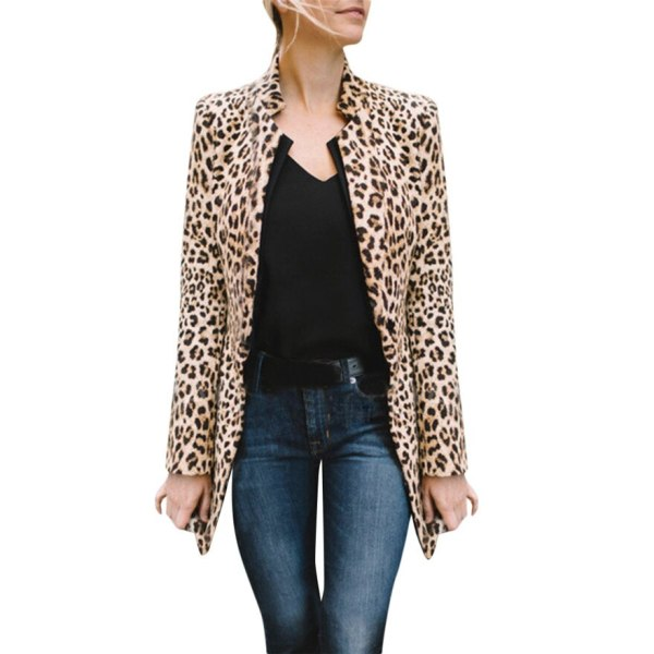 Women Leopard Printed Sexy Winter Warm Wind Coat Cardigan Long Coat Casual streetwear Cardigan 1019 A Women Leopard Printed Sexy Winter Warm Wind Coat Cardigan Long Coat Casual streetwear Cardigan #1019 A#487