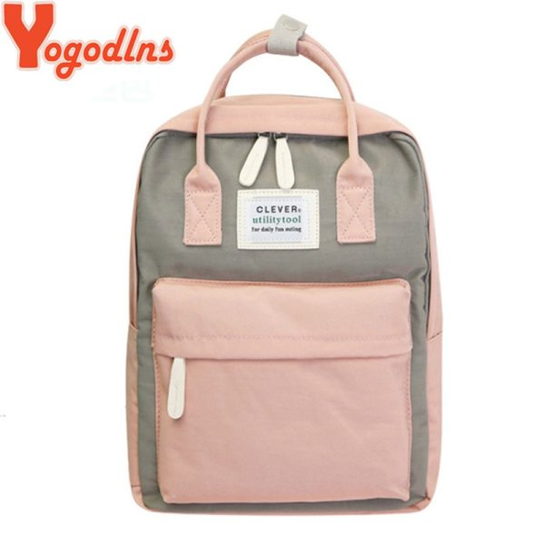 Yogodlns Campus Women Backpack School Bag for Teenagers College Canvas Female Bagpack 15inch Laptop Back Packs Yogodlns Campus Women Backpack School Bag for Teenagers College Canvas Female Bagpack 15inch Laptop Back Packs Bolsas Mochila