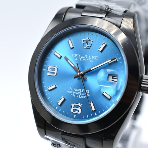 Fashion PETER LEE Brand Luxury Full Steel Bracelet Waterproof Automatic Mechanical Business Clocks Classic Dial 38mm Silver Watch | Fashion PETER LEE Nautilus | Brand Luxury Full Steel Bracelet Waterproof Automatic Mechanical Business Clocks Classic Dial 38mm Mens Watch