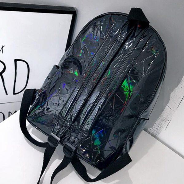 Large Travel Bags Laser Backpack Women Men Girls Bag PU Leather Holographic Backpack School Bags for 1 Large Travel Bags Laser Backpack Women Men Girls Bag PU Leather Holographic Backpack School Bags for Teenage Girls fashion bag