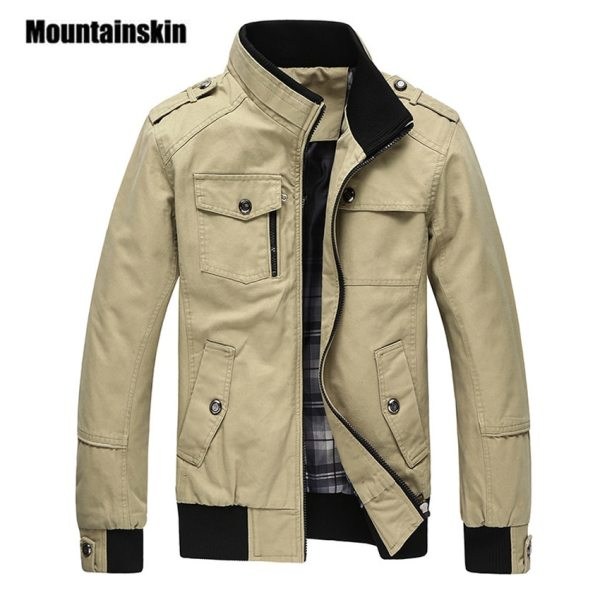 Mountainskin Casual Men s Jacket Spring Army Military Jacket Men Coats Winter Male Outerwear Autumn Overcoat Mountainskin Casual Men's Jacket Spring Army Military Jacket Men Coats Winter Male Outerwear Autumn Overcoat Khaki 5XL EDA085