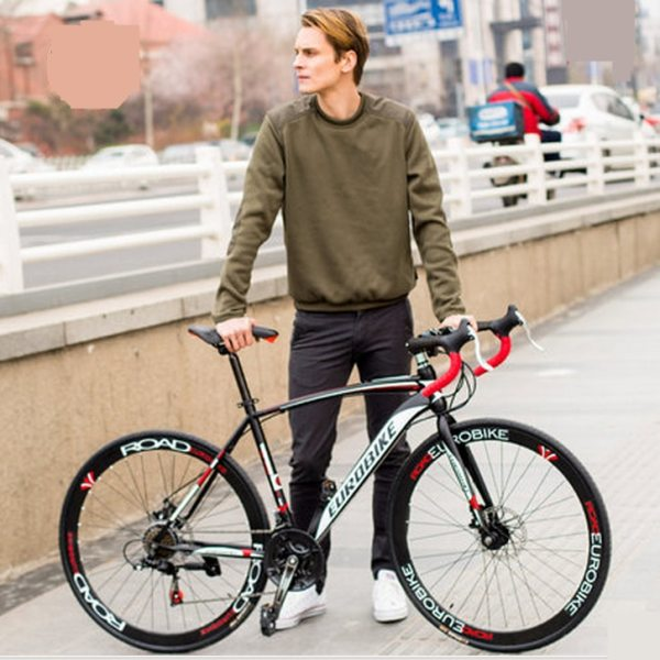 New brand carbon steel frame 700C wheel 21 27 speed disc brake road bike outdoor sport 2 New brand carbon steel frame 700C wheel 21/27 speed disc brake road bike outdoor sport cycling bicicletas racing bicycle