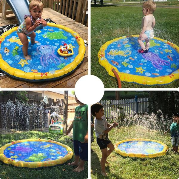 100cm Outdoor Lawn Beach Sea Animal Inflatable Water Spray Kids Sprinkler Play Pad Mat Water Games 3 100cm Outdoor Lawn Beach Sea Animal Inflatable Water Spray Kids Sprinkler Play Pad Mat Water Games Beach Mat Cushion Toys