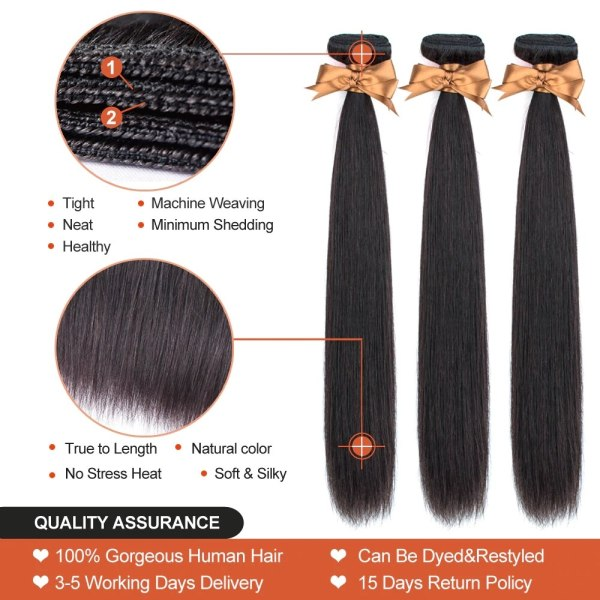Brazilian Straight Hair Lace Frontal With Hair Weave Bundles Human Hair Extension Bundles With Frontal Non 1 Brazilian Straight Hair Lace Frontal With Hair Weave Bundles Human Hair Extension Bundles With Frontal Non Remy Fashion Queen
