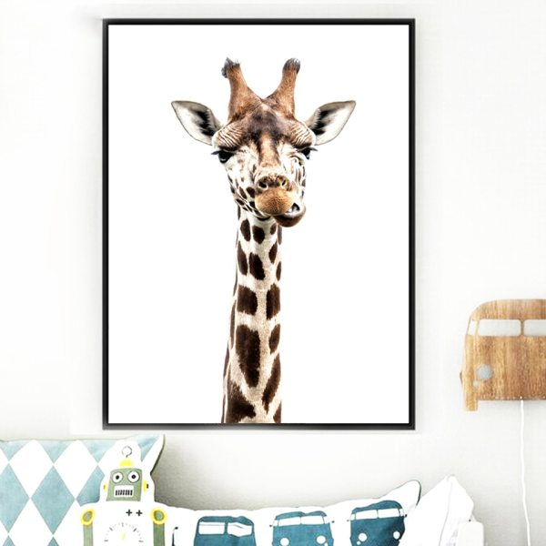 Canvas Printed Poster Home Decorative Animal Giraffe Quotes Nordic Poster Painting Wall Artwork Pictures Living Room 1 Canvas Printed Poster Home Decorative Animal Giraffe Quotes Nordic Poster Painting Wall Artwork Pictures Living Room Modular