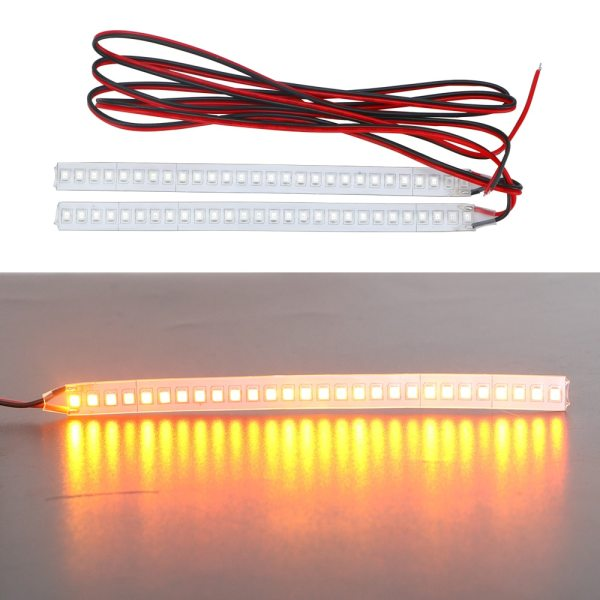 FORAUTO 1 Pair Car Rearview Mirror Indicator Lamp Streamer Strip Flowing Turn Signal Lamp Amber LED 4 FORAUTO 1 Pair Car Rearview Mirror Indicator Lamp Streamer Strip Flowing Turn Signal Lamp Amber LED Car Light Source 28 SMD