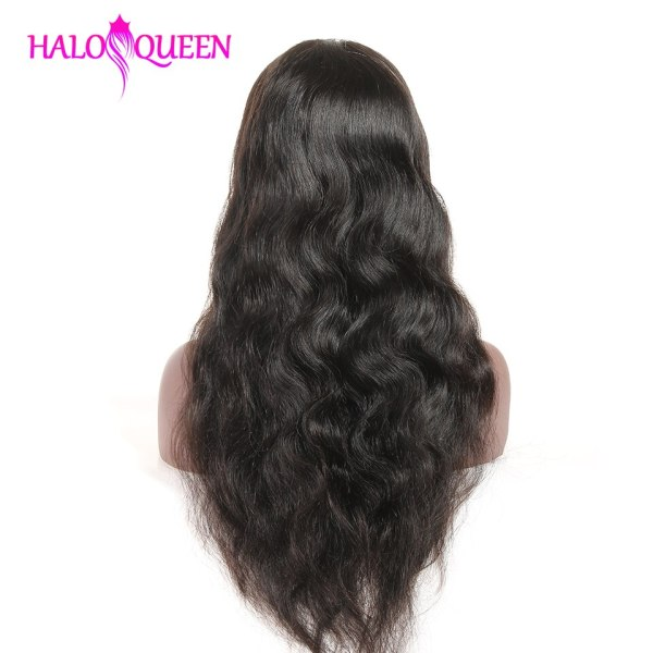 HALOQUEEN Hair Human Wigs Raw Indian 13X4 Lace Closure Wig Body Wave Pre Plucked Baby Hair 3 HALOQUEEN Hair Human Wigs Raw Indian 13X4 Lace Closure Wig Body Wave Pre-Plucked Baby Hair 8-28 Inch Non Remy Human Hair
