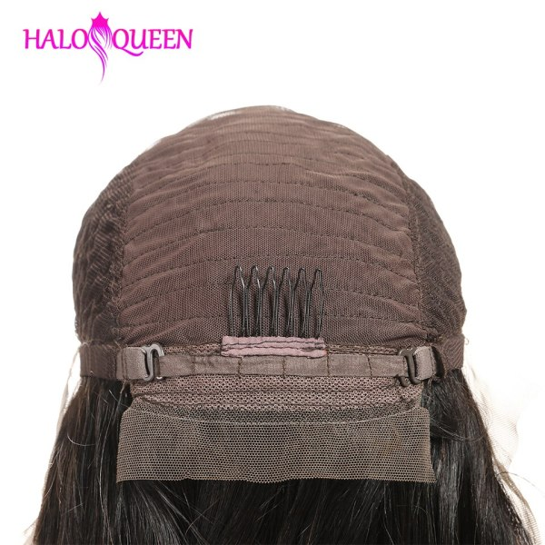 HALOQUEEN Hair Human Wigs Raw Indian 13X4 Lace Closure Wig Body Wave Pre Plucked Baby Hair 5 HALOQUEEN Hair Human Wigs Raw Indian 13X4 Lace Closure Wig Body Wave Pre-Plucked Baby Hair 8-28 Inch Non Remy Human Hair