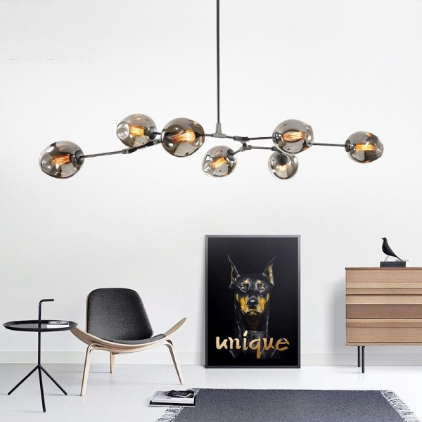 Nordic Industrial Style LED Ceiling Lights Glass Ceiling Lamp Restaurant Hanging Lamp Living Room Lamp Bedroom 2 Nordic Industrial Style LED Ceiling Lights Glass Ceiling Lamp Restaurant Hanging Lamp Living Room Lamp Bedroom Cafe