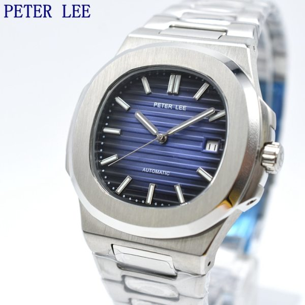 PETER LEE Mens Watches Top Brand Luxury Full Steel Automatic Mechanical Men Watch Classic Male Clocks PETER LEE Mens Watches   Top Brand Luxury Full Steel   Automatic 40mm Mechanical Men Watch Classic Male Clocks High Quality Sport Watch