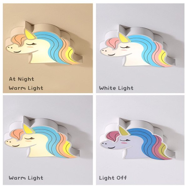 Unicorn kids room light led ceiling lights with remote control cartoon lampshade children room cute ceiling 4 Unicorn kids room light led ceiling lights with remote control cartoon lampshade children room cute ceiling lamp deco child room