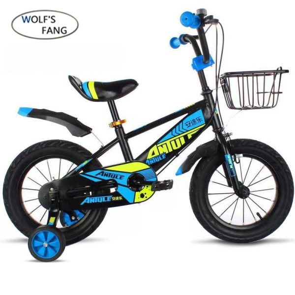 Wolf s fang Child s Bike Cycling Kid s Bicycle With Safety Protective Steel 14 16 Wolf's fang Child's Bike Cycling Kid's Bicycle With Safety Protective Steel 14/16/18 inch Children Bikes boy Free shipping