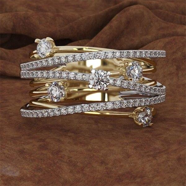 14K 3 Colors Gold Diamond Ring for Women Vintage Fashion Topaz Zircon Gemstone Bizuteria Anillos Sliver 14K 3 Colors Gold Diamond Ring for Women Vintage Fashion Topaz Zircon Gemstone Bizuteria Anillos Sliver Jewelry Engagement Ring