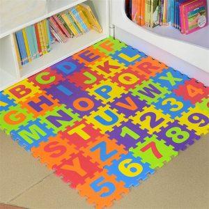 36Pcs set EVA Foam Number Alphabet Puzzle Play Mat Baby Rugs Toys Play Floor Carpet Interlocking Innrech Market.com