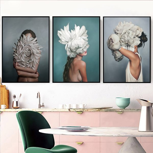 Abstract Flower Avatar Girl Canvas Painting Wall Painting Print Poster Wall Art Bedroom Living Room Modern 1 Abstract Flower Avatar Girl Canvas Painting Wall Painting Print Poster Wall Art Bedroom Living Room Modern Home Decoration