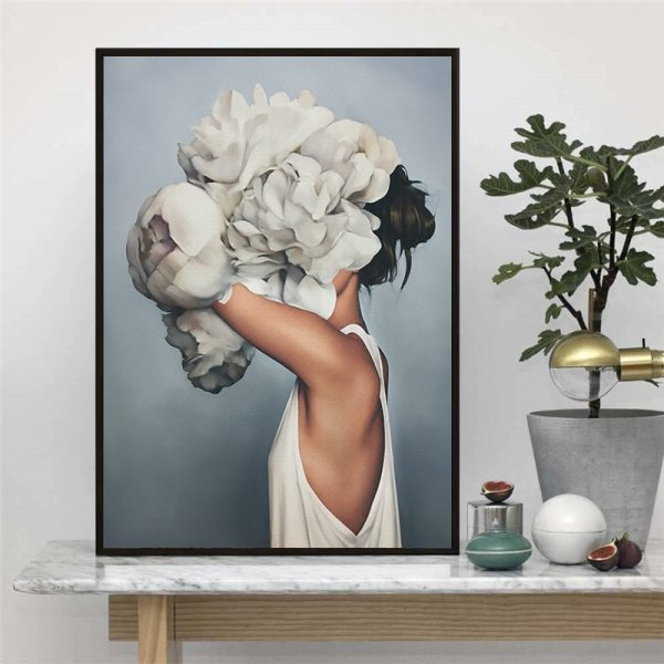Abstract Flower Avatar Girl Canvas Painting Wall Painting Print Poster Wall Art Bedroom Living Room Modern 4 Abstract Flower Avatar Girl Canvas Painting Wall Painting Print Poster Wall Art Bedroom Living Room Modern Home Decoration