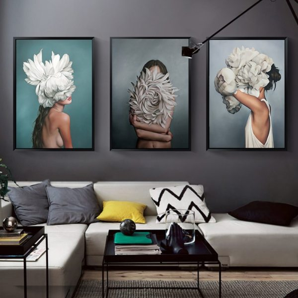 Abstract Flower Avatar Girl Canvas Painting Wall Painting Print Poster Wall Art Bedroom Living Room Modern Abstract Flower Avatar Girl Canvas Painting Wall Painting Print Poster Wall Art Bedroom Living Room Modern Home Decoration