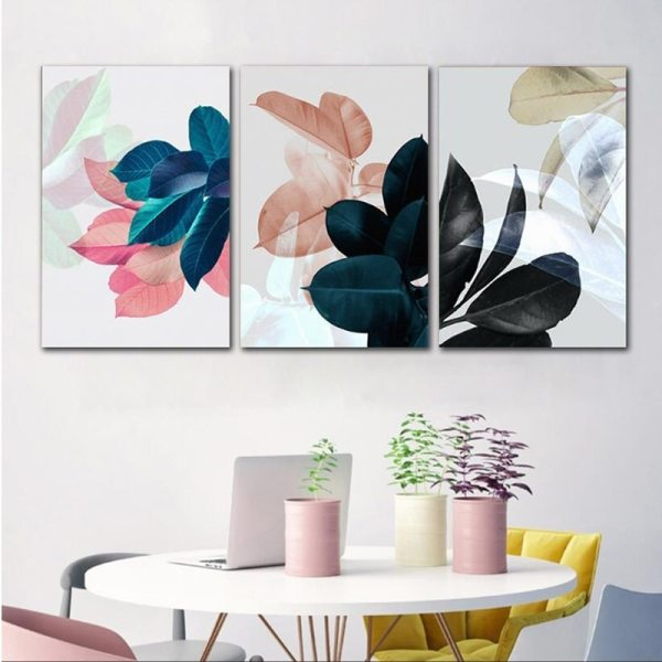 Colorful Leaves Wall Pictures for Living Room Home Decoration Nordic Plants Poster Wall Art Canvas Painting 1 Colorful Leaves Wall Pictures for Living Room Home Decoration Nordic Plants Poster Wall Art Canvas Painting Posters and Prints