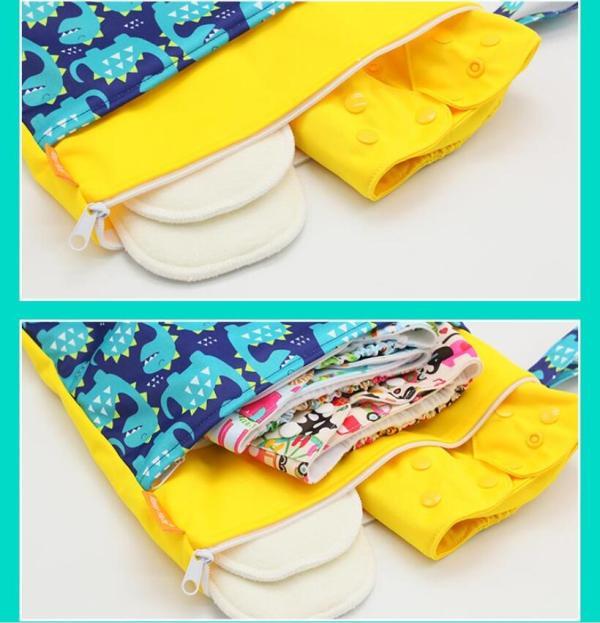 HappyFlute Baby Diaper Bags Double Zippered Wet Dry Bag Waterproof Wet Cloth Diaper Backpack Reusable Diaper HappyFlute Baby Diaper Bags Double Zippered Wet/Dry Bag Waterproof Wet Cloth Diaper Backpack Reusable Diaper Cover WetBag