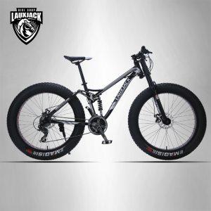 LAUXJACK Mountain bike steel frame 24 speed Shimano mechanical brakes 26 x4 0 wheels long fork Innrech Market.com
