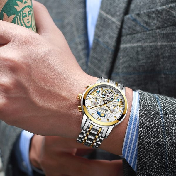 LIGE Official Store Mens Watches Top Brand Luxury Automatic Mechanical Business Clock Gold Watch Men Reloj 4 LIGE Official Store Mens Watches Top Brand Luxury Automatic Mechanical Business Clock Gold Watch Men Reloj Mecanico de Hombres