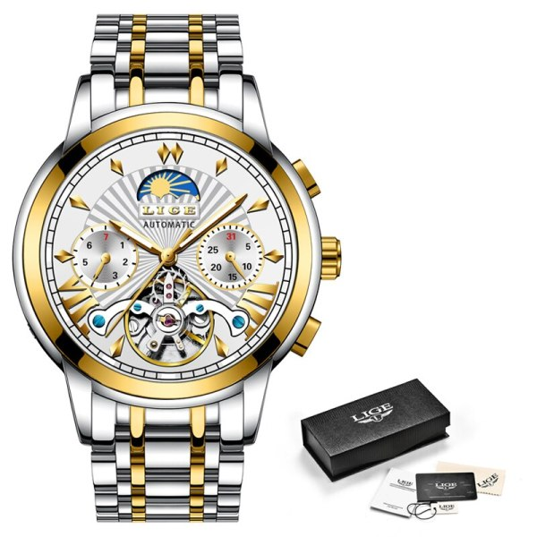 LIGE Official Store Mens Watches Top Brand Luxury Automatic Mechanical Business Clock Gold Watch Men Reloj 5 LIGE Official Store Mens Watches Top Brand Luxury Automatic Mechanical Business Clock Gold Watch Men Reloj Mecanico de Hombres