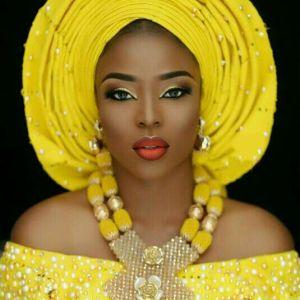 Latest African Wedding Nigerian Beads Jewelry Sets Yellow Bride Crystal Statement Necklace Set Women Gift Free Innrech Market.com