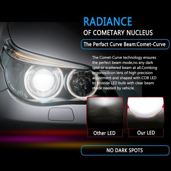 Muxall 8000LM Pair LED Headlight Bulbs 72W Auto Lights Car H7 LED H1 H3 H27 H11 2 Muxall 8000LM/Pair LED Headlight Bulbs 72W Auto Lights Car H7 LED H1 H3 H27 H11 HB3 HB4 H4 H13 9004 9007 Car Styling Lamp